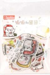 Kawaii Sticker Sack Flake - heart beat - onigiri