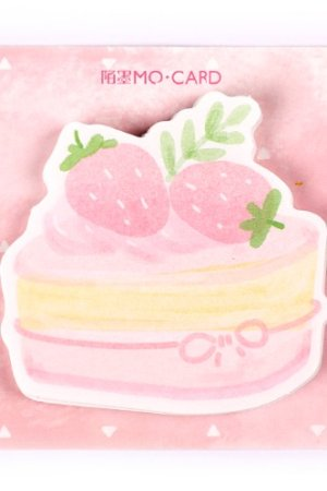 Photo1: Kawaii Message Notes Memo Pad - Japanese Style - strawberry Mousse
