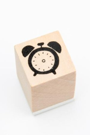 Photo1: Lovely Wooden Rubber Stamp - Planner - Alerm