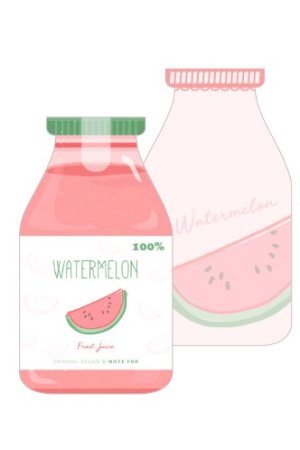 Photo1: Message Notes Paper Note Memo - morning - water melon
