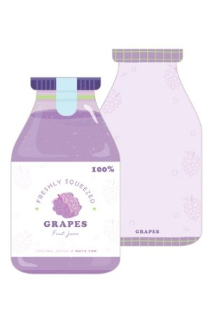 Photo1: Message Notes Paper Note Memo - morning - grape juice