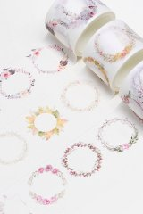 Kawaii Washi Masking Tape Set - simple love - flower rings