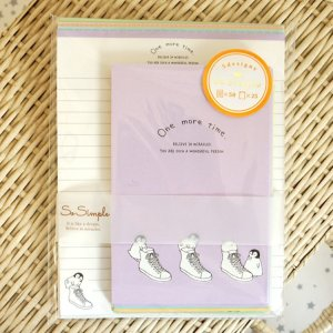Photo1: Kawaii Japanese Volume Letter Set - One more time