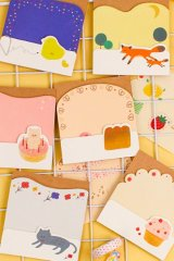 Kawaii die-cut Message Notes Paper Note Memo - zakka and animals