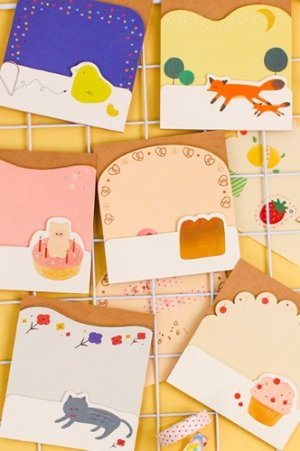 Photo1: Kawaii die-cut Message Notes Paper Note Memo - zakka and animals