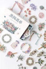 Vintage Style Planner DIY Paper Label Sticker Box - morning flower
