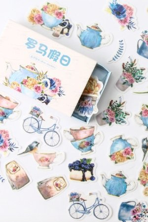 Photo1: Vintage Style Planner DIY Paper Label Sticker Box - holiday