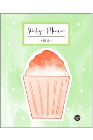 Photo1: Kawaii Sticky Notes Memo - Sweet - Ice Shake
