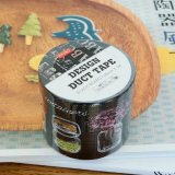 Kawaii Japanese Design Duct Tape Black Board 4.8cm x 5m