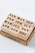 Lovely Wooden Planner Bujo Supplies Stamp Set - Basic function - vintage month