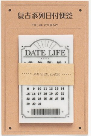Photo1: Kawaii Glassing Paper Message Notes Memo - date - modern time