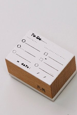 Photo1: Wooden Rubber Stamp - mark series - To Do