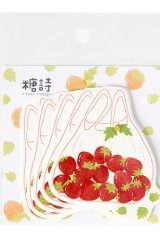 Kawaii Paper Message Notes Memo - sweet summer - wild strawberry