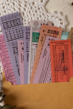 Photo1: Vintage Style Paper Message Notes Memo - ticket series
