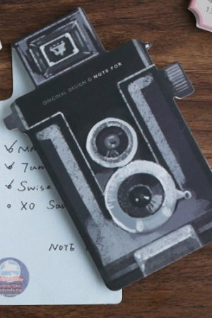 Photo1: Die-cut Message Notes Memo - camera - Seagull