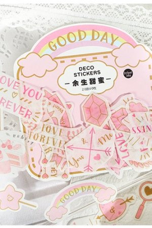 Photo1: Kawaii Sticker Sack Flake - sweet life - sweet life