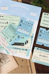 Kawaii Message Notes Memo - travel ticket - UK