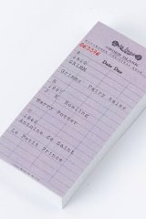 Vintage Office Supplies Paper Message Notes Memo - city ticket - Order Blank