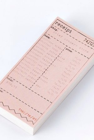 Photo1: Vintage Office Supplies Scheduler Message Notes Memo - city ticket - Gift Shopping List