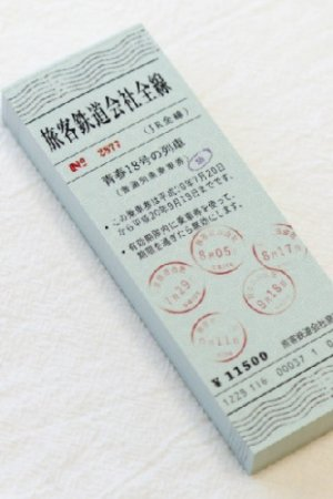 Photo1: Japanese Message Notes Memo - train ticket - express