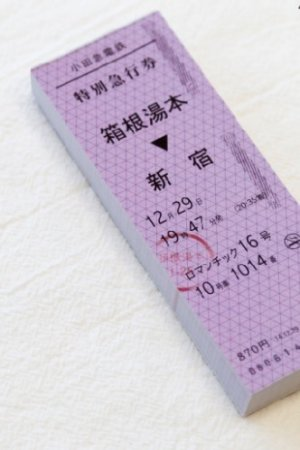 Photo1: Japanese Message Notes Memo - train ticket - hakone