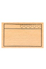 Wooden Rubber Stamp - planner series - favorite shop ranking