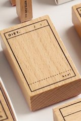 Wooden Rubber Stamp - planner series - Diet