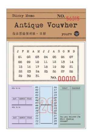 Photo1: Retro Style Paper Planner Sticky Notes Memo - ticket - calendar