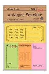 Retro Style Paper Planner Sticky Notes Memo - ticket - invoice