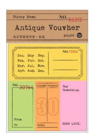 Photo1: Retro Style Paper Planner Sticky Notes Memo - ticket - invoice