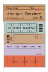 Retro Style Paper Planner Sticky Notes Memo - ticket - ruler