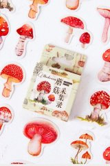 Lovely Planner Paper Label Sticker Box - mushroom collection