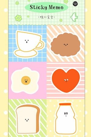 Photo1: Kawaii Paper Planner Sticky Notes Memo - child - food court