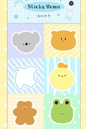 Photo1: Kawaii Paper Planner Sticky Notes Memo - child - animal