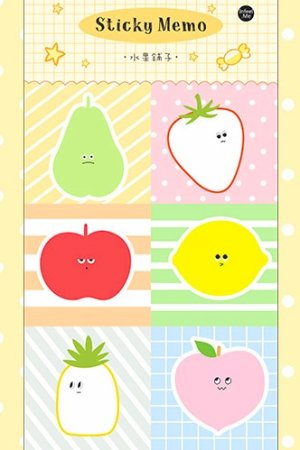 Photo1: Kawaii Paper Planner Sticky Notes Memo - child - fruits shop