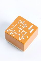 Wooden Rubber Stamp - Christmas - reindeer