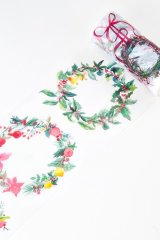 Huge Wide Washi Masking Tape - Christmas - flower ring