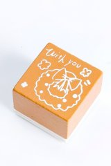Wooden Rubber Stamp - Christmas - wreath