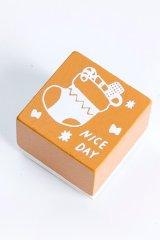 Wooden Rubber Stamp - Christmas - lucky sock