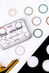 DIY Planner Label Sticker Seal Set with Tin Case - Dot sticker