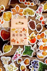 Lovely Planner Paper Label Sticker Box - leaves