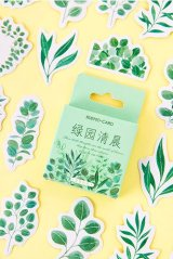 Lovely Planner Paper Label Sticker Box - Green Garden Morning