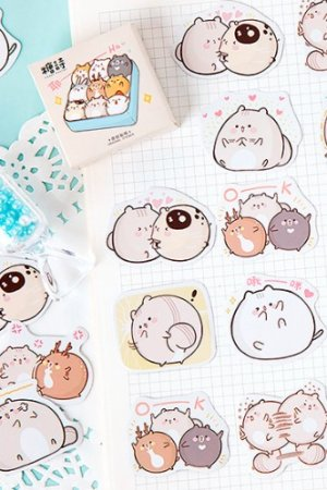 Photo1: Lovely Planner Paper Label Sticker Box - Little Fat