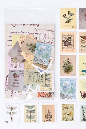 Photo1: Kawaii Planner Bujo Journal Seal Sticker Sack - Stamp Museum - insect book