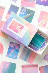 Kawaii Match Box Bujo Journal Sticker Set - lovely animals - unicorn rainbow