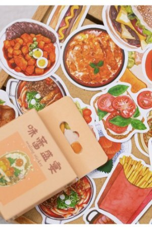 Photo1: Lovely Planner Paper Label Sticker Box - tasty feast