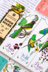 Kawaii Paper Bookmarks - vintage - birds