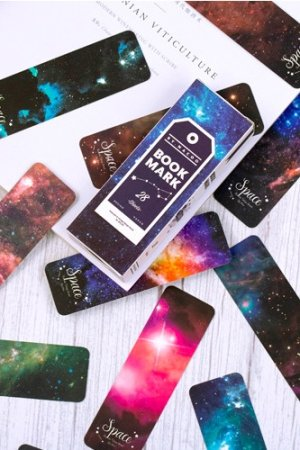 Photo1: Kawaii Paper Bookmarks - vintage - starry sky