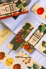Kawaii Paper Bookmarks - vintage - fruits
