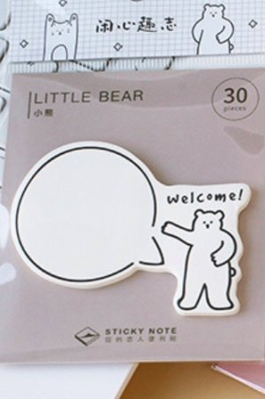 Photo1: Kawaii Sticky Notes Memo - funny - little bear